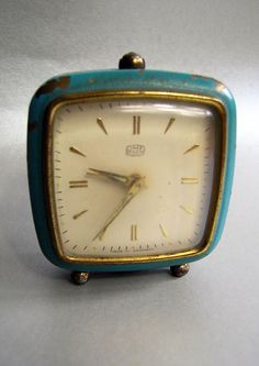 Vintage Alarm Clock 1960s 70s  Shabby Chic WindUp by RetroBerlin, $29.99