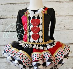 Queen of Hearts Alice in Wonderland Little Miss by lilabbehandmade