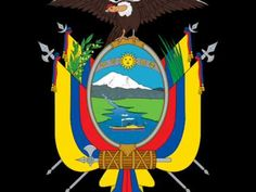 Brasão de armas do Equador. Coat of arms of Ecuador. National Symbols, National Flag, Peru, Equador Quito, Organization Of American States, Quito Ecuador, Inca, Galapagos Islands, European History