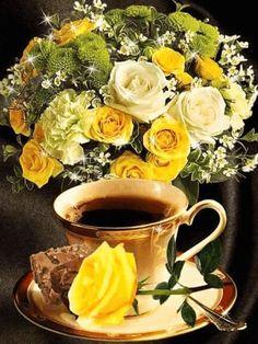Coffee Gif, Coffee Mug Quotes, Coffee Love, Hot Coffee, Coffee Cups, Tea Cups, Happy Coffee, Good Morning Coffee, Good Morning Gif