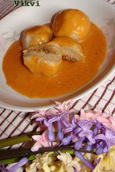 B&B: Anyuci készítenél...: Budai fakras gombóc Thai Red Curry, Ethnic Recipes, Food, Red Peppers, Essen, Meals, Yemek, Eten
