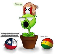 ╭──────────ꕥ。ೃ - - - - ❑ ःCada imagen y cómic no son de mi autoría. ❑ ःCʀéᴅɪᴛᴏꜱ ᴀ ꜱᴜꜱ ʀᴇꜱᴘᴇᴄᴛɪᴠᴏꜱ ᴅᴜᴇñᴏꜱ. ❑ ः Portada echa por mi uwu ╰───────ೃ୭ 🍑 Plant Zombie, Mundo Comic, Country Men, Funny Art, Akatsuki, Hetalia, Dumb And Dumber, Minions, Geek Stuff