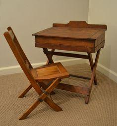 Antique Desk - LOVE the chair