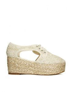 crochet lace wedge shoes - ASOS #Crochet #Fashion