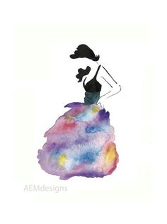 Fashion Watercolor by SoulPaperArt on Etsy