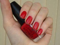 Red nail polish might be my favorire ! Opi Nail Polish Names, Fall Nail Polish, Opi Polish, Opi Nails, Opi Colors, Hair Skin Nails, Makeup Junkie, Nail Art, Glamour