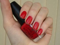 Red nail polish OPI//Indie Punk Goddess