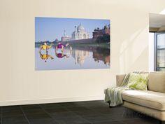 Taj Mahal, Agra, Uttar Pradesh, India Murais de parede por Doug Pearson na AllPosters.com.br