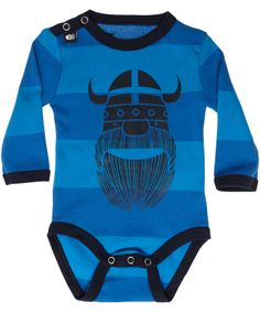 Danefae soft cotton blue baby body with Erik The Viking. danefae.en.emilea.be