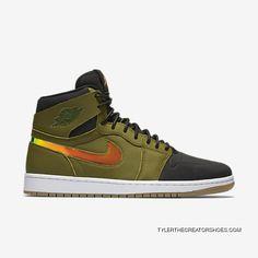 195c2c52792 Mens Air Jordan 1 Retro High Nouveau Green TopDeals