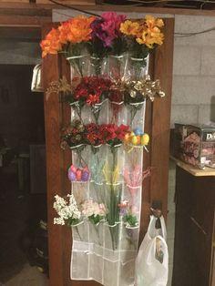 Craft Room Storage, Craft Organization, Diy Storage, Storage Ideas, Craft Rooms, Garage Storage, Organization Ideas, Fake Flowers, Diy Flowers