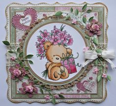 The Stamp Basket: Teddy with Present