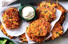 Healthy Gluten Free Recipes, Healthy Food Options, High Protein Recipes, Healthy Snacks, Healthy Eating, Fish Recipes, Vegetable Recipes, Seafood Recipes, Corn Fritters Healthy