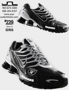 Custom Oakland Raiders Nike Turbo Shox Team Shoes – JNL Apparel