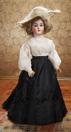 As in a Looking Glass: 349 Bisque Lady Doll,1159,by Simon and Halbig for the French Market
