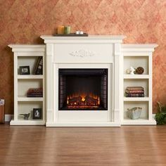 Harper Blvd Dublin 70-inch Ivory Electric Fireplace - 13196985 - Overstock.com Shopping - Great Deals on Harper Blvd Indoor Fireplaces