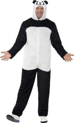 Disfraz de oso panda para adulto: Este disfraz de oso panda panda para adulto está compuesto por un mono con capucha integral (zapatos no incluidos). Las piernas y los brazos son de color negro, el busto es de color blanco. La...