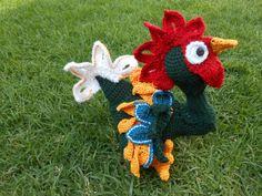 Kiriko rooster amigurumi pattern. By Caloca Crochet