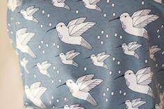 Hummingbird Blue - Organic Cotton Jersey
