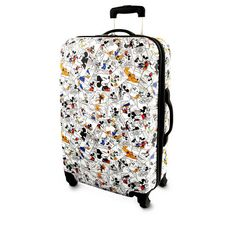 Carry the funny pages wherever you go in Mickey's large rolling suitcase with classic 1930s comic strip art, plus functional features like a hard-shell case, telescopic handle and in-line wheels.