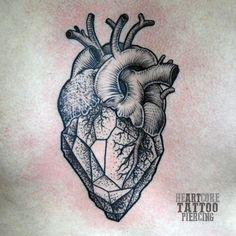 90 Anatomical Tattoos For Men and Women Trendy Tattoos, Unique Tattoos, New Tattoos, Tattoos For Guys, Neck Tatto, Arm Tattoo, Tattoo Flash, Geometric Heart Tattoo, Geometric Flower