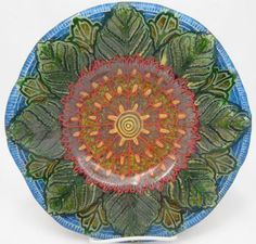 Carrie Strope Sohayda    Frit Painting with Fusible Glass and a little inspiration from Dover Books Mystical Mandalas