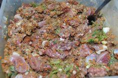 Raw home made dog food!  (yuck ha)