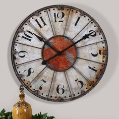 Product Image for Uttermost Ellsworth 29-Inch Wall Clock 2 out of 2