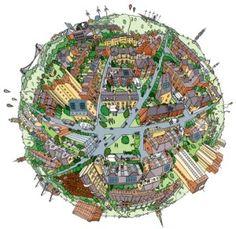 Buy a Planet Bristol print | Bristol Green Doors