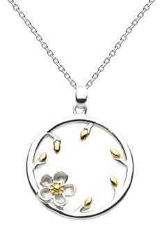 Kit Heath Wood Rose Bud Necklace