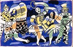 Acrobats and clowns, 1950 Fernand Leger