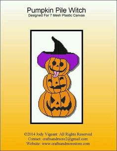 PUMPKIN PILE WITCH by JODY VIGEANT -- WALL HANGING 1/2