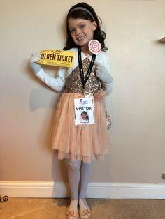Veruca Salt from Charlie & the Chocolate Factory - World Book Day Costume Roald Dahl Costumes Kids, Book Costumes, World Book Day Costumes, Book Week Costume, Girl Costumes, Costume Ideas, Roahl Dahl Costumes, Literary Costumes, Party Costumes