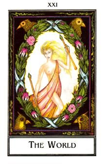 June 28 Tarot Card: The World (Palladini deck) When one cycle comes to a close, another is just beginning. Things are coming full-circle now, and it's time to set your sights beyond this present moment