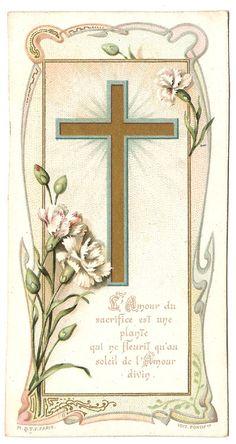 Gold Cross Divine Love Antique Vintage Art by 12StarsVintage