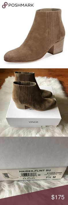 Vince Haider Bootie NWT New with tags Vince Haider Bootie in Flint suede. Vince Shoes Ankle Boots & Booties
