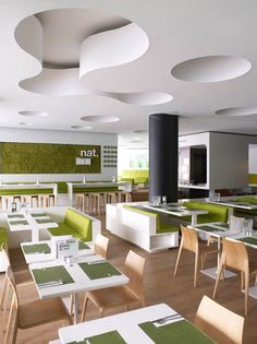 Nat. Fine Bio Food Restaurant interior by eins:eins Architects hotels and restaurants eco