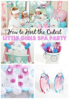 How to host the cutest little girls spa party - I love this birthday party idea for girls!