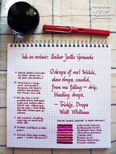 Ink Review: Sailor Jentle Grenade   Rants of The Archer
