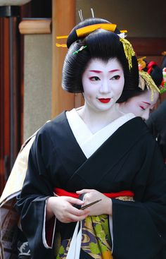 Geiko Kikuyu-san- I saw a documentary about her I love her story very much! It was such an inspiration for me as an emerging artist!