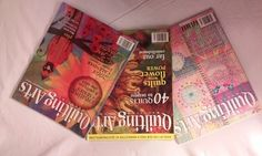 Quilting Arts magazine, three issues from Aug/Sept 2007, Feb/March 2007, and June/July 2007 by paperwerks on Etsy #etsy #quiltingarts