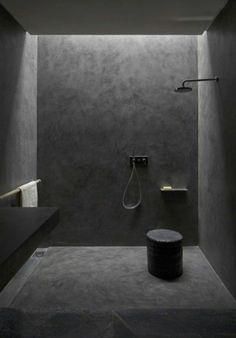 strakke donkere badkamer. #badkamermeubel #ineterieuradvies