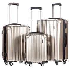 Luggage Sets Collections | Merax Dreamy ABSPC 3 Piece Expandable Luggage Set with TSA Lock Silver *** Read more  at the image link. Note:It is Affiliate Link to Amazon. #newjersey