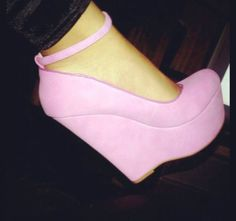 Gorgeous pink wedges