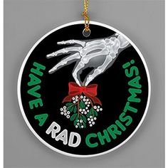 """Have+a+Rad+Christmas""+Rad+Tech+Mistletoe+Porcelain+Ornament"