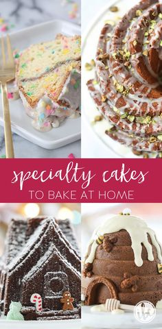 Specialty Cakes to Bake at Home - delicious and unique cake recipes My Recipes, Cake Recipes, Baking Recipes, Favorite Recipes, Easter Recipes, Log Cake, Gingerbread Cake, Fancy Cakes, Mini Cakes