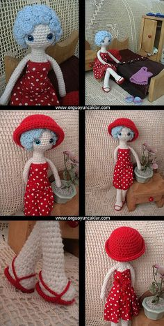 Amigurumi Summer Doll 2 by Ulku Akcam, via Flickr ♡