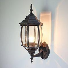 Vintage Village Wall Sconce 1-Light Wall lamp E26 Metal max E26 60W bulb Lantern Light Fixture, Light Fixtures, Front Door Lighting, Fan Decoration, Vintage Wall Lights, Wall Sconces, Vintage Items, Bulb, Exterior