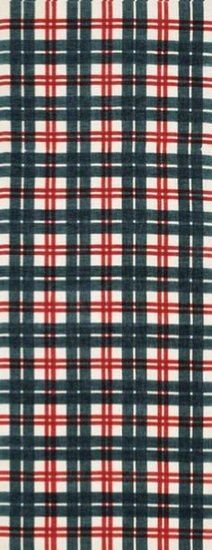 Japanese Tenugui Cotton Fabric, Tartan Check, Scottish Pattern, Hand Dyed Green & Red Fabric, Wall Hanging Tapestry, Home Decor, Scarf, JapanLovelyCrafts