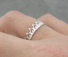 Silver Ring You Are My Princess by thesilversmith on Etsy - I really like this - and the thought.